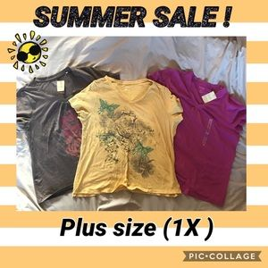 3 Plus Size 1X t-shirts!
